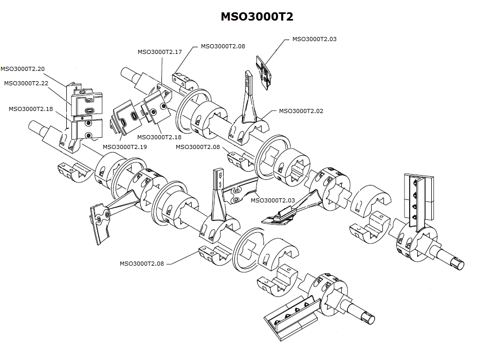 intercambiabili mescolatori mso3000t2